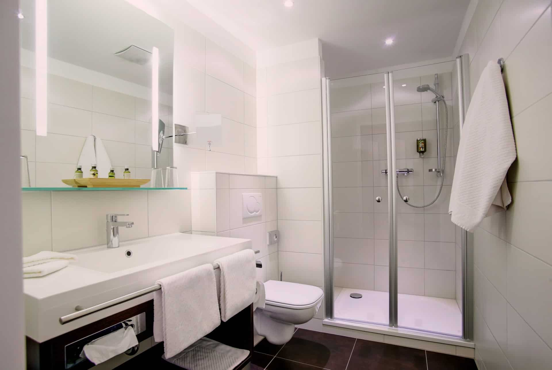 Badezimmer – Hotel Mercedes in Bonn
